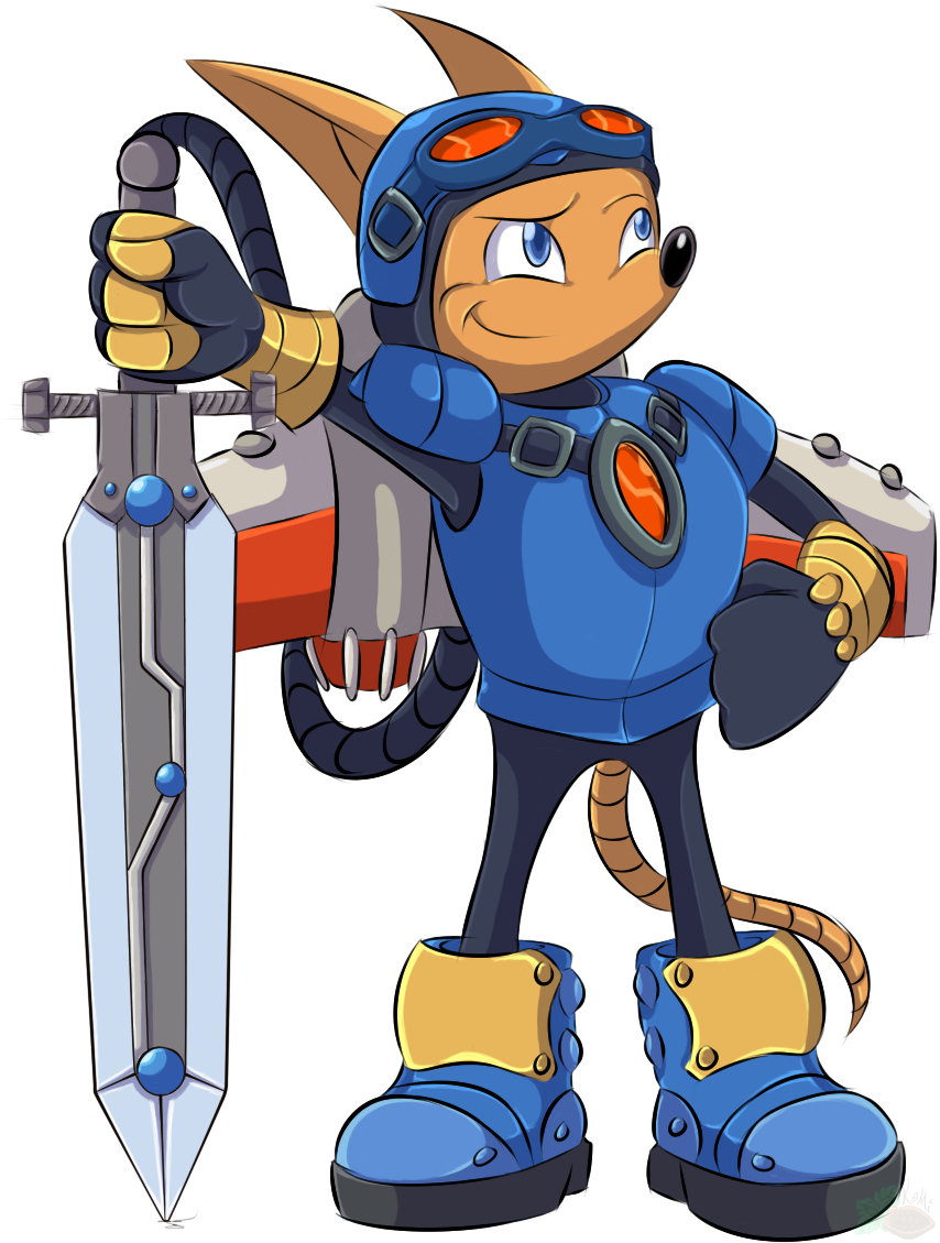 [Art Trade Collab] Sparkster the Rocket Knight