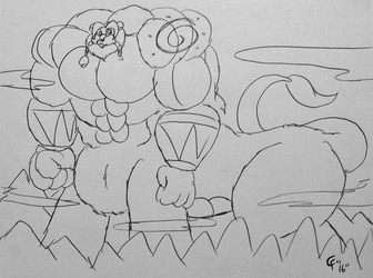 Bast Doodle - Mountainously Mighty Lion