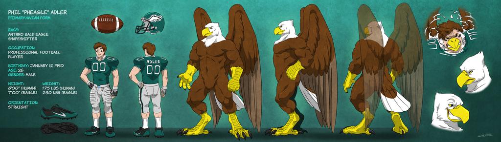 """Phil """"Pheagle"""" Adler - Eagle Form: Naked Sheet"""