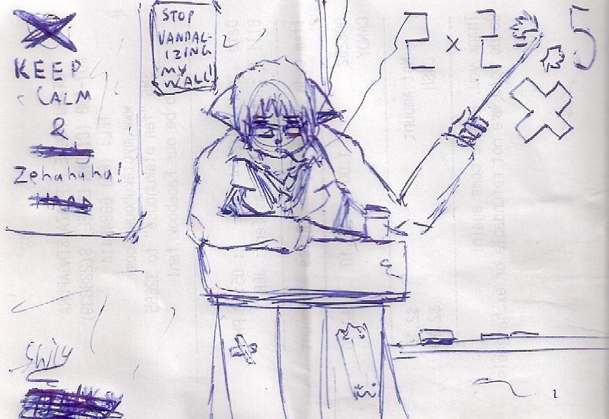 receipt sketch: teaching