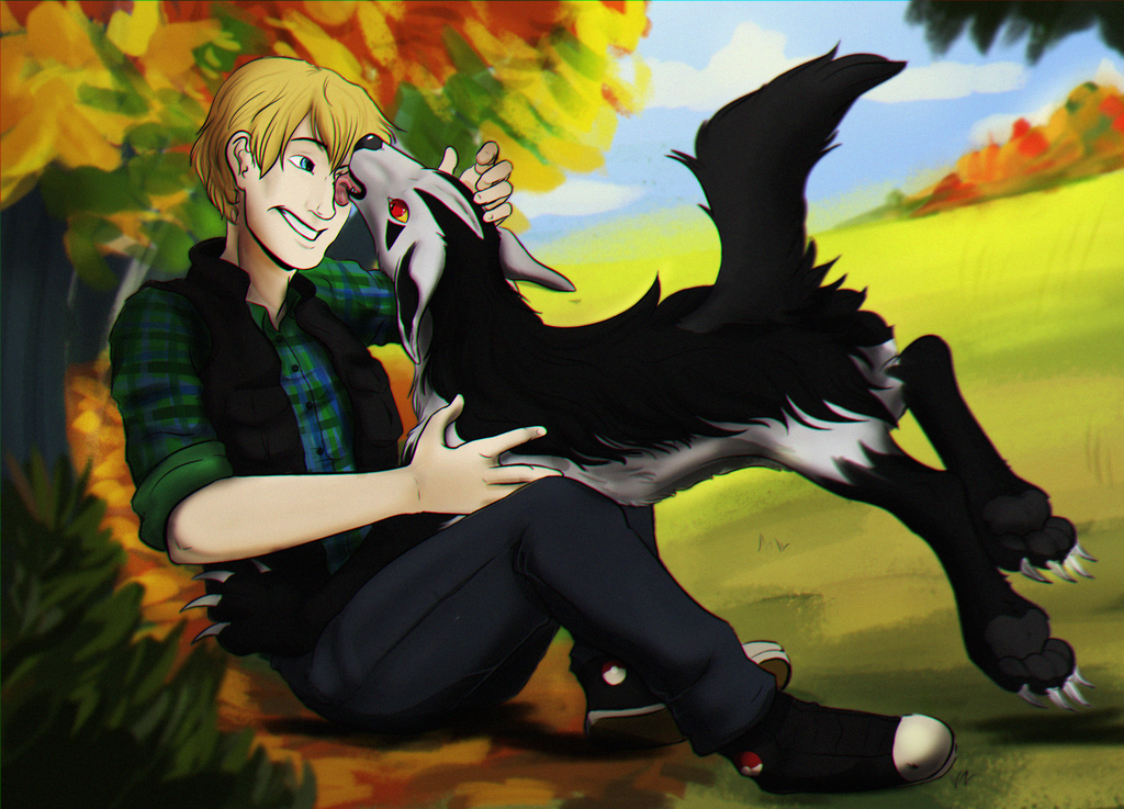 A boy and his... dog?