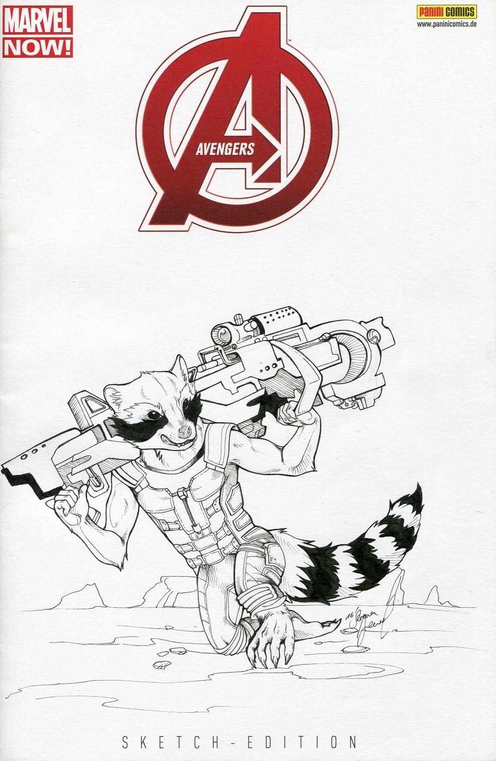 Rocket Raccoon Blank Cover by Serena Jewel