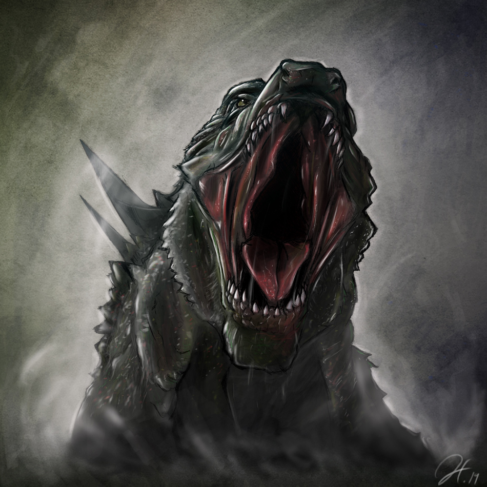 Final Head Shot: Godzilla 2014
