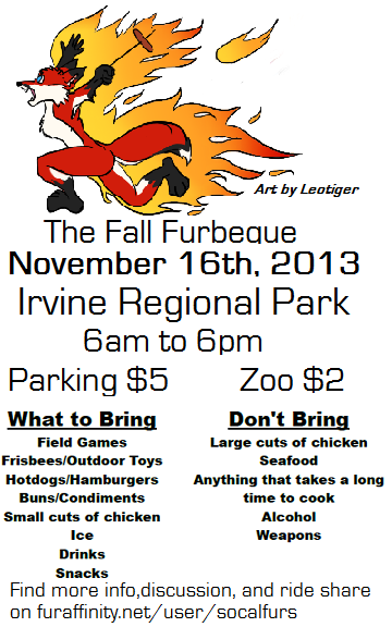 2013 Fall FurBQ Poster ... and with Fire!