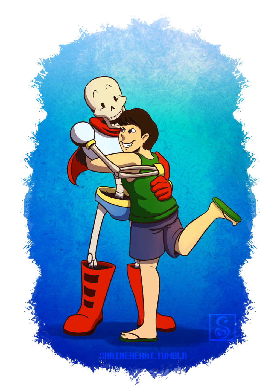 Commission: Papyrus Hugs