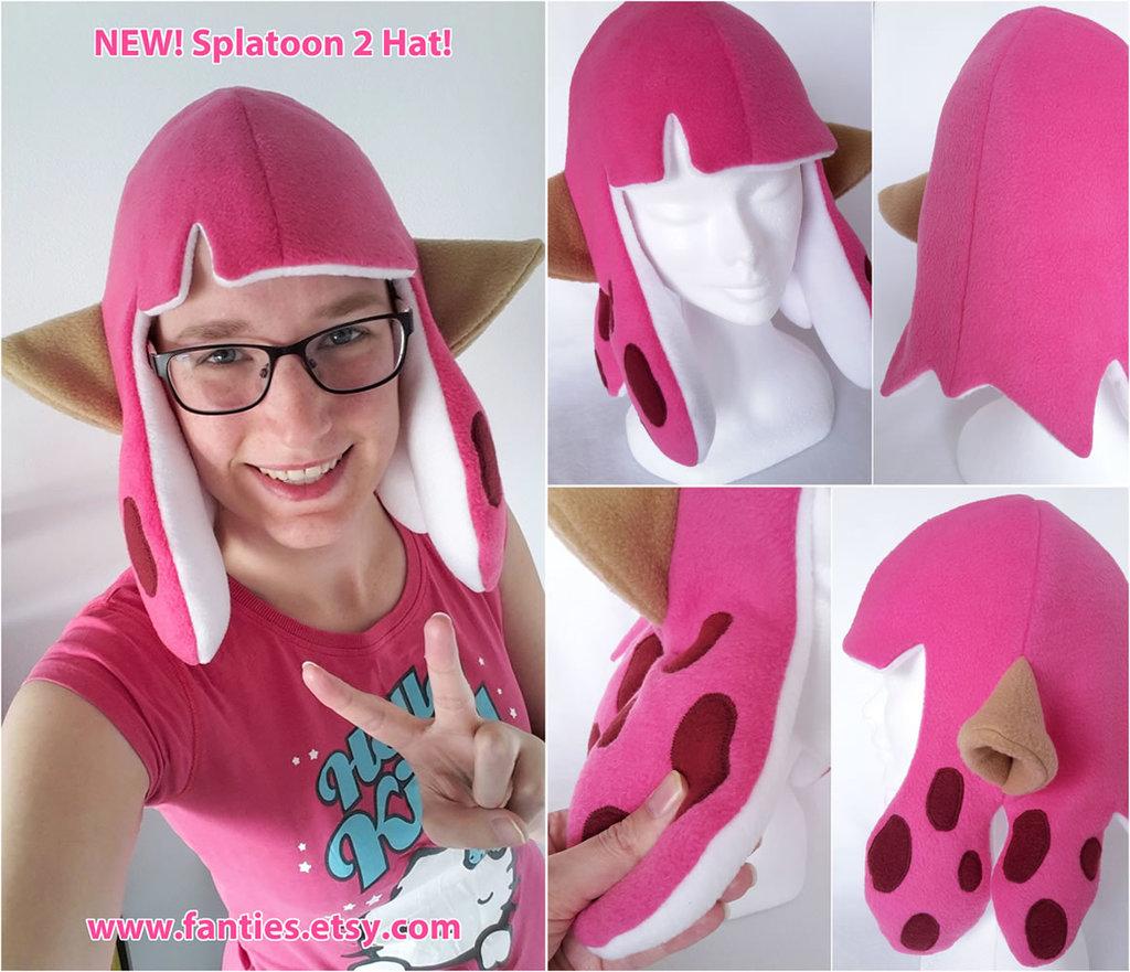 NEW Splatoon2 Inkling Girl Hat ♥ PINKKKK
