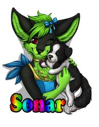 Sonar Beauty Sissy Badge - By Robyn_Paperdoll