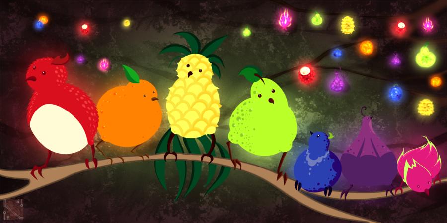 Magical Fruit Bird Rainbow