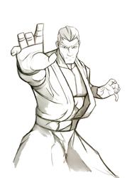 stylized fighter