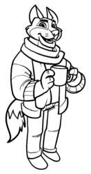 Hipster Fox - Linework