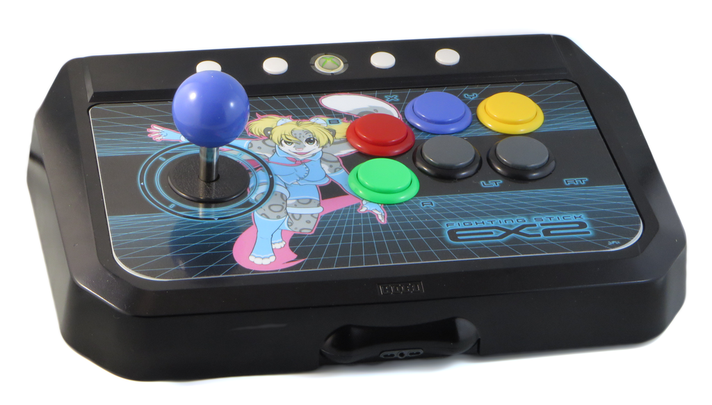 Custom Hori EX2 Arcade Stick (Blue)