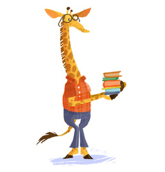 Unusual anthro: nerd giraffe