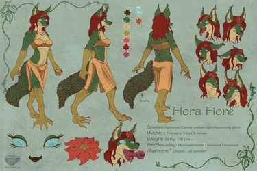 Flora Fiore reference sheet