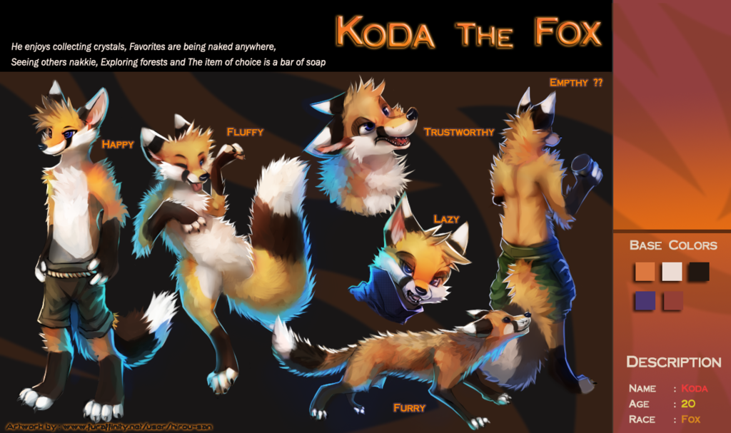 Most recent image: Koda The Fox Ref Sheet