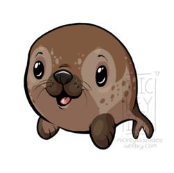 Chubby Seal Sticker
