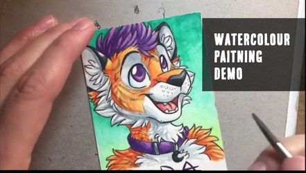 Watercolour Painting Demo Video