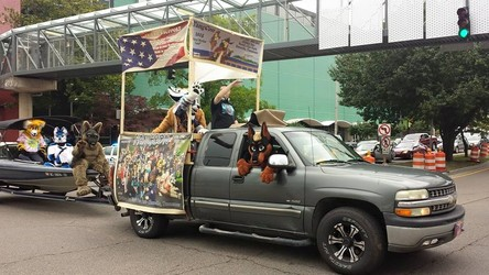 Fangcon participating in Knoxville Pride Parade 2015