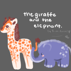 the giraffe and the elephant