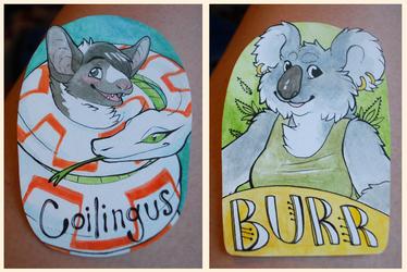 Coilingus & Burr Badges