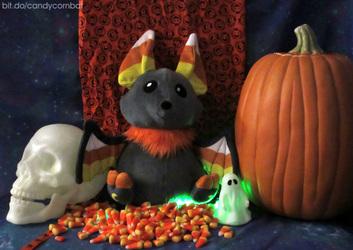 Candycorn Bat Plush Prototype is Here!