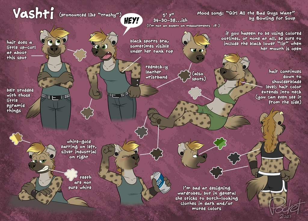 Most recent image: Vashti character sheet