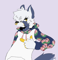 Edgy flower pup