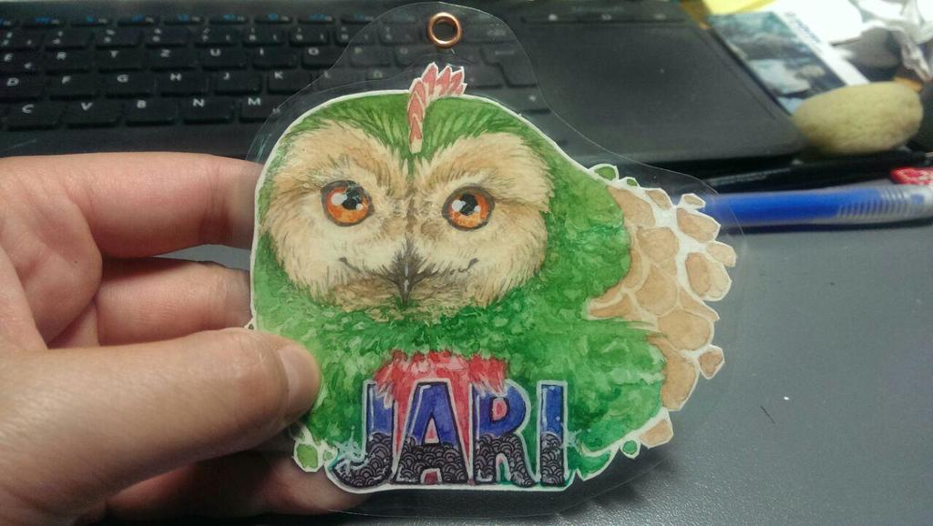 [Commission] Watercolor Badge - Jari