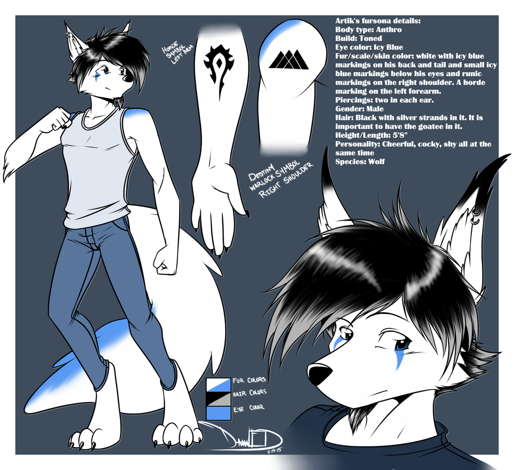 Most recent image: Artik Silverfang Reference Sheet