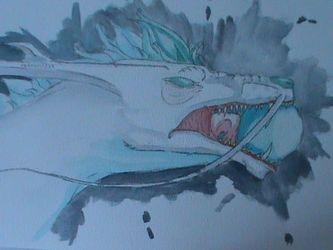 Haku watercolor bust