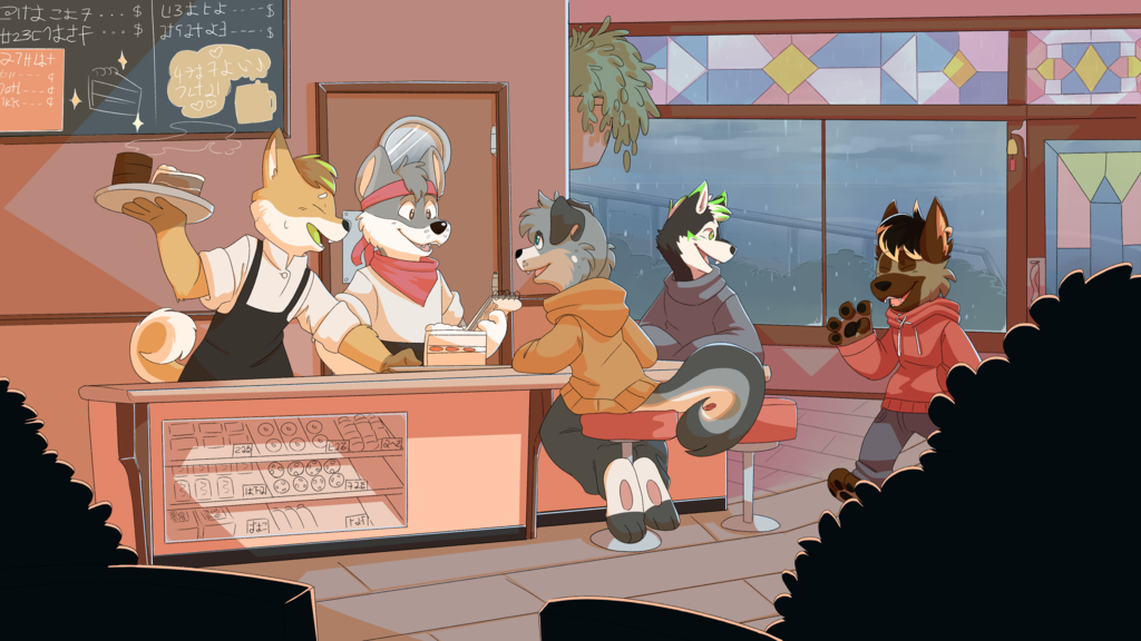 [Commission] Cafe Wag