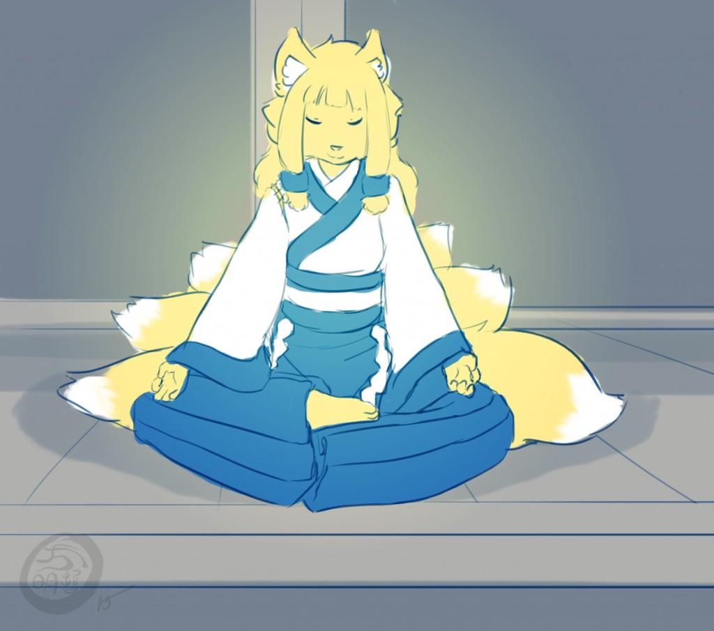 Meditating Sailee Kitsune~