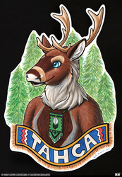 Tahca Mixed Media Badge