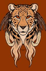 Tribal Cheetah - Shirt design.