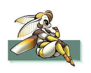 Golden Robot Moth <3