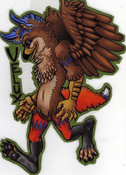 Grungy badge