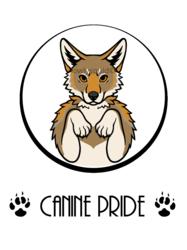 Canine Pride Badge (Coyote)