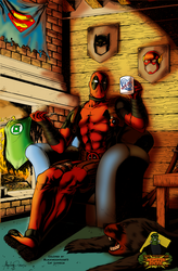 Deadpool Chillin