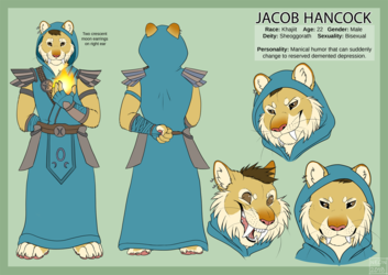 [Commission] Jacob Reference Sheet Khajiit
