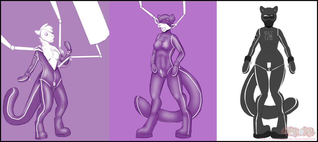 Art Slave: Rubbervixen - Anonymiss Suiting