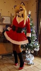 Lisa in her Christmas dress