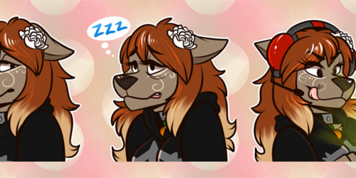 [commission] Telegram Stickers: Rosey