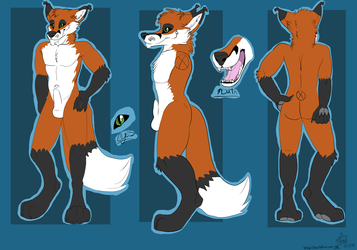 Assassin Fox Flat color Ref Commission