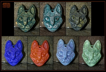 resin cat pendants