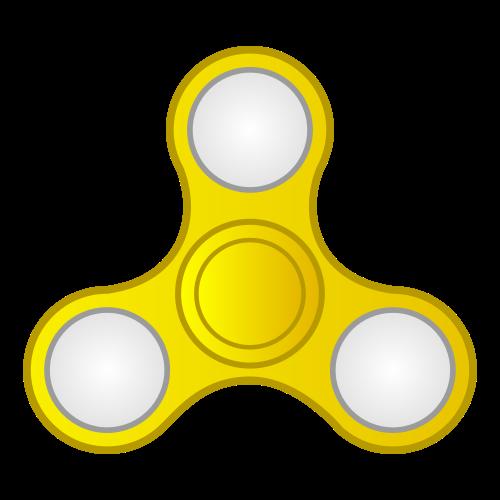 Gold LED Fidget Spinner