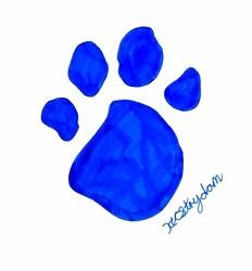 Blues Clues paw print
