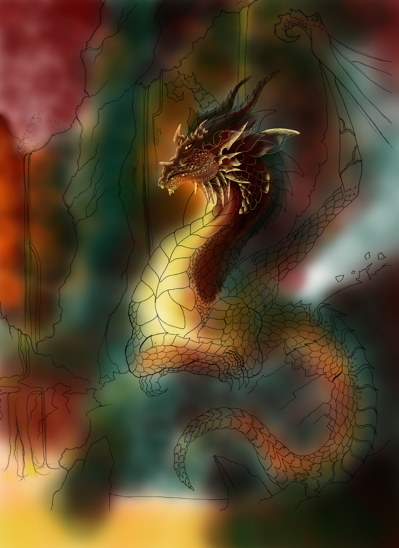 WIP of Lava Dragon