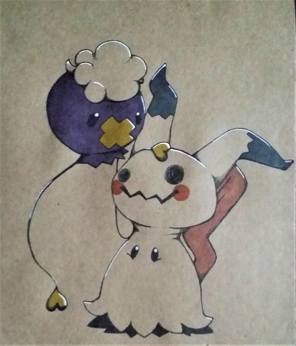 Drifloon and Mimikyu Cuddles