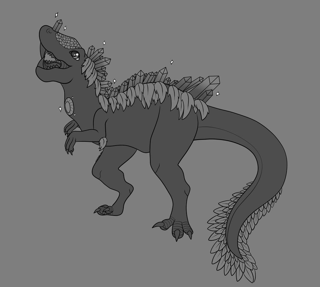 Dinosaur Lineart