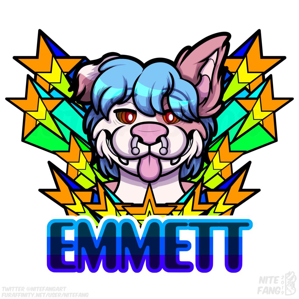 {SG} Emmett Psychedelic Badge