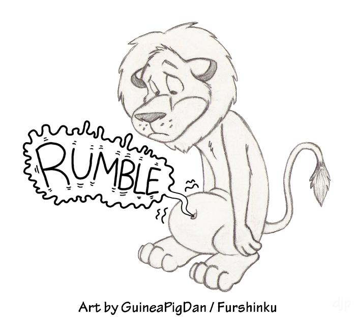 Belly Rumble Furry: Hungry Lion